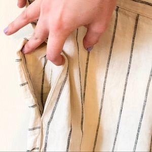 Anthropologie Pants - Anthropologie   Linen Striped Wide leg Pant